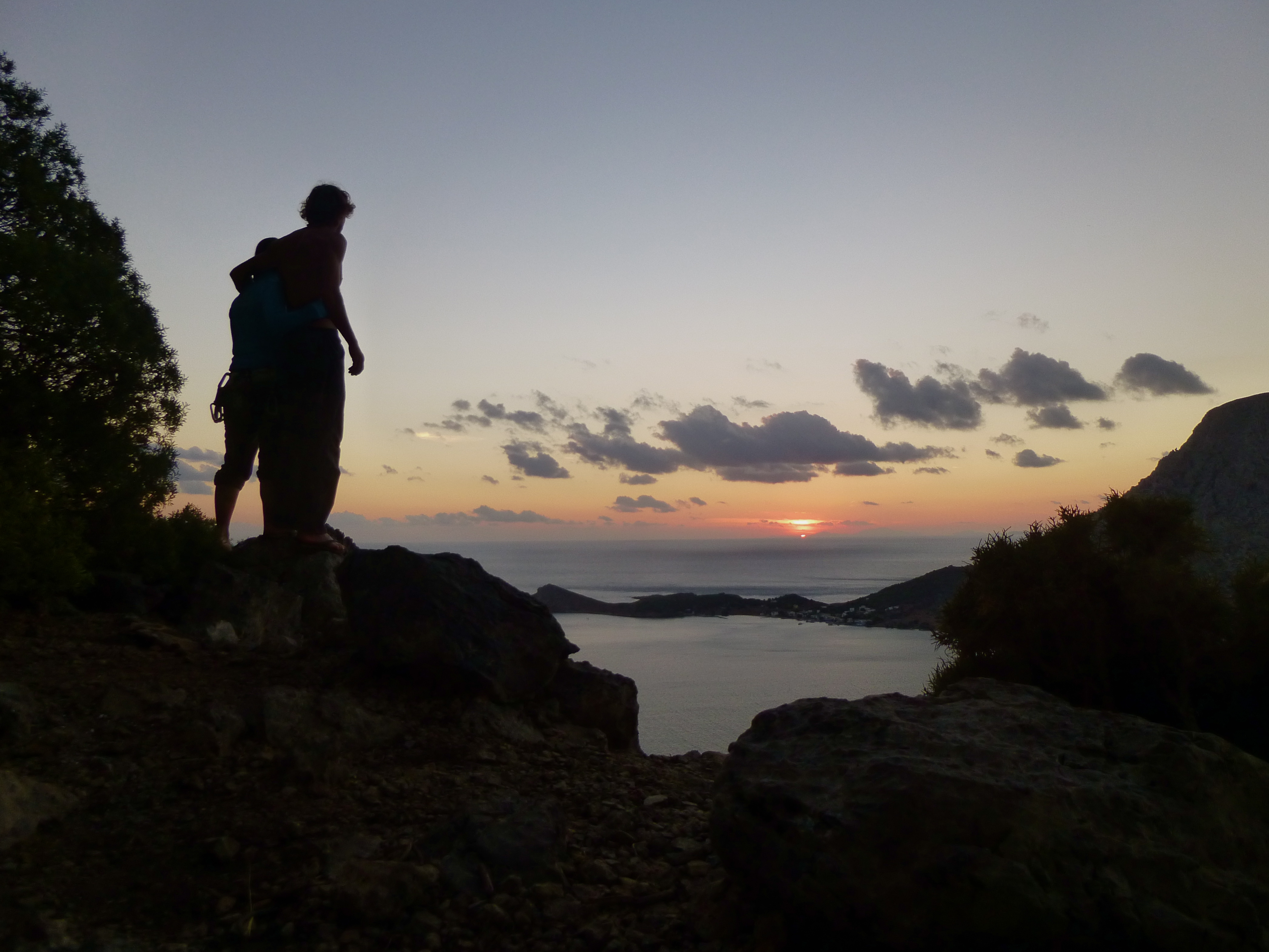 Sunset over from the cliffs of Kalymnos