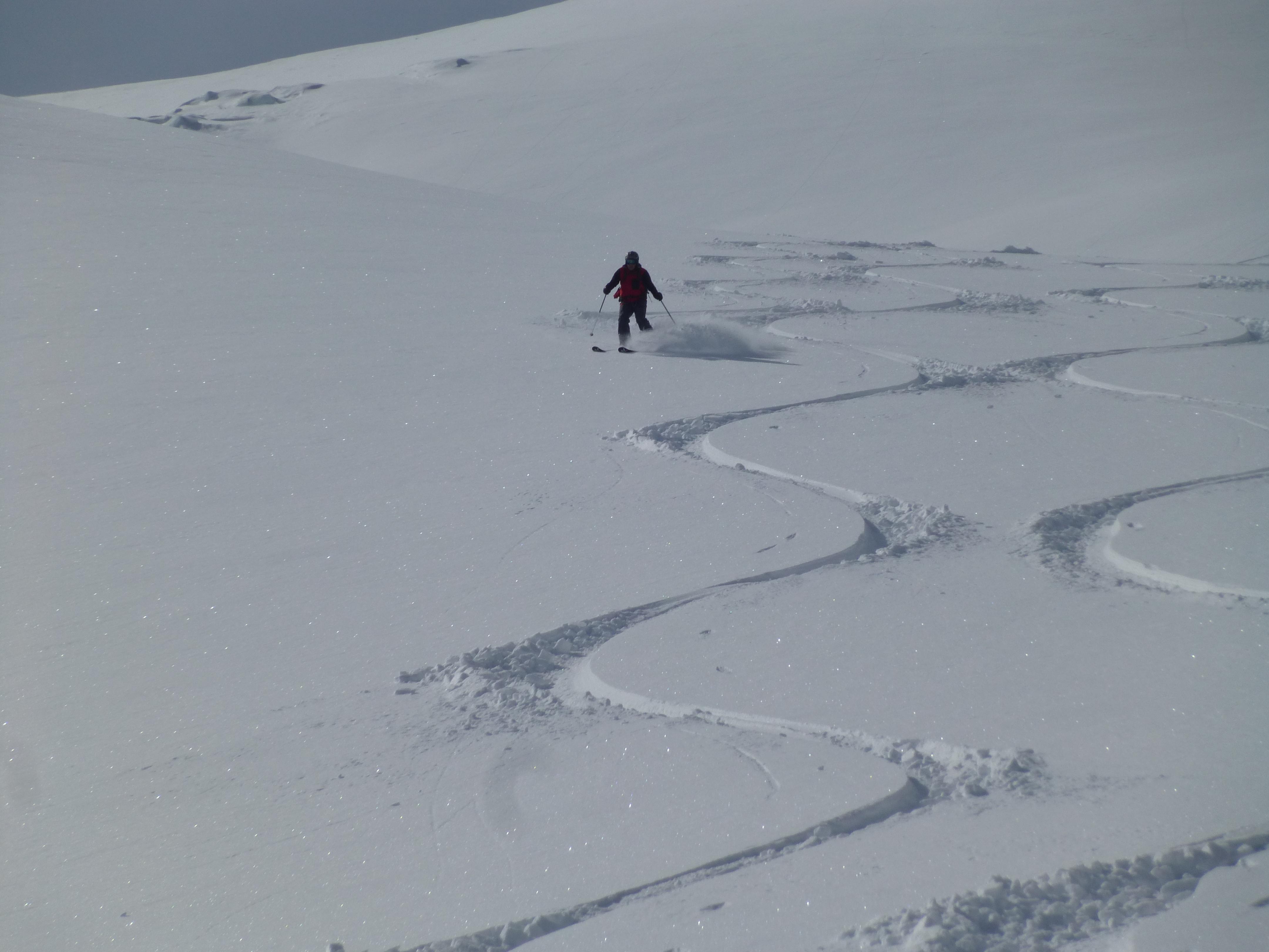 Jurgen tracing his line