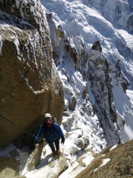 Arete des Cosmiques, Aiguille du Midi, Mountaineering course, Chamonix ski guide, haute route, chamonix climbing, Chamonix freeride, Chamonix mountain guides, Swiss mountaineering