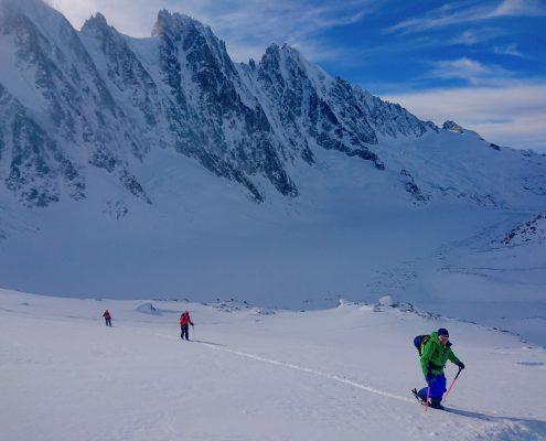 Glacier d'Argentiere, Chamonix, Ski touring, freeride, off-piste, backcountry, Alpine Energy Guiding, mountaineering & ski adventures, Andrew Lanham Mountain Guide, Chamonix, Aosta Valley, Swiss, lyngen alps