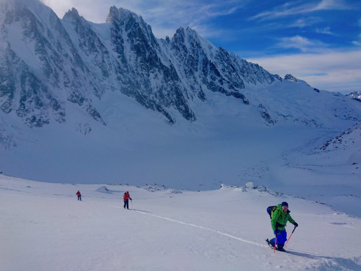 Glacier d'Argentiere, Chamonix, Ski touring, freeride, off-piste, backcountry, Alpine Energy Guiding, mountaineering & ski adventures, Andrew Lanham Mountain Guide, Chamonix, Aosta Valley, Swiss, lyngen alps