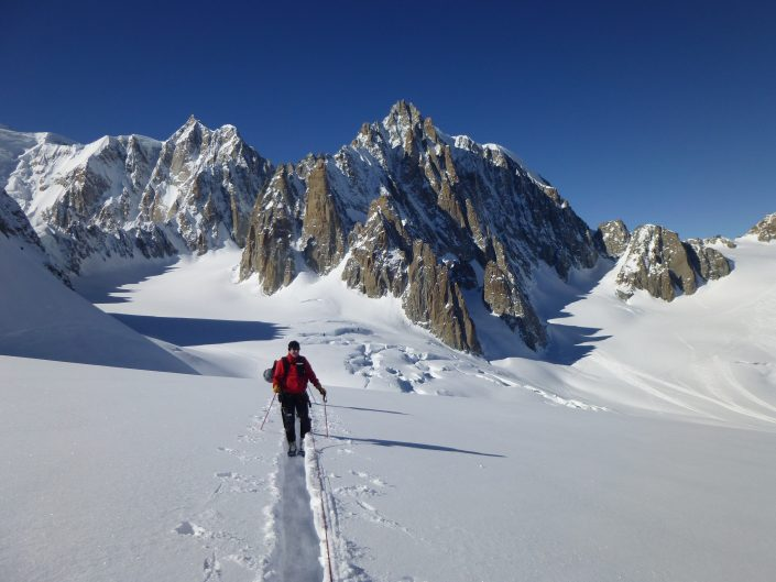 Glacier du Geant, Mont Blanc du Tacul, Ski touring, freeride, off-piste, backcountry, Alpine Energy Guiding, mountaineering & ski adventures, Andrew Lanham Mountain Guide, Chamonix, Aosta Valley, Swiss, lyngen alps