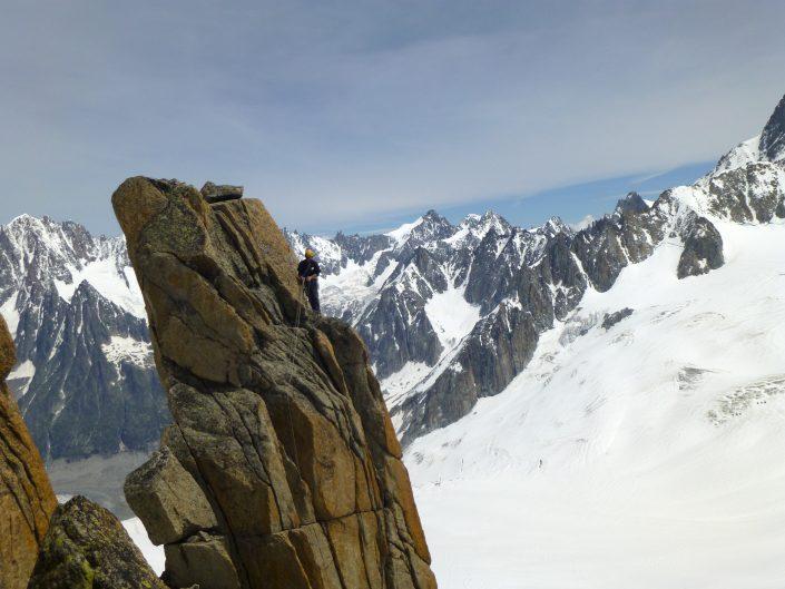 rock climbing chamonix