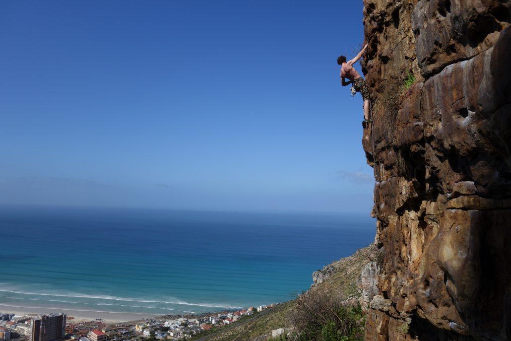 mountain guide cape town rock climbing