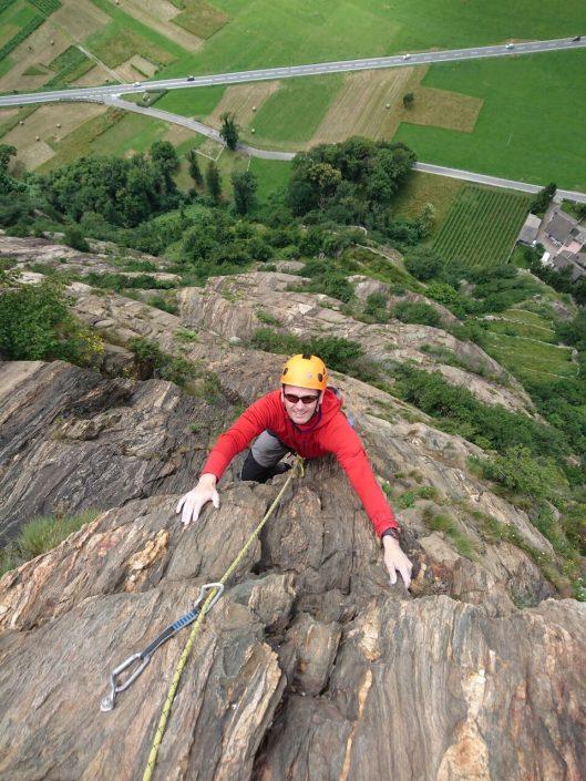 mountain guiding rock climbing