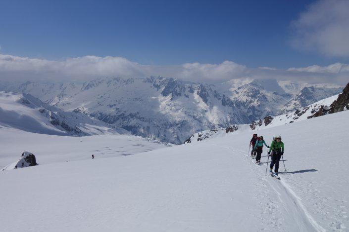 Ski touring, freeride, off-piste, backcountry, Alpine Energy Guiding, mountaineering & ski adventures, Andrew Lanham Mountain Guide, Chamonix, Aosta Valley, Swiss, lyngen alps