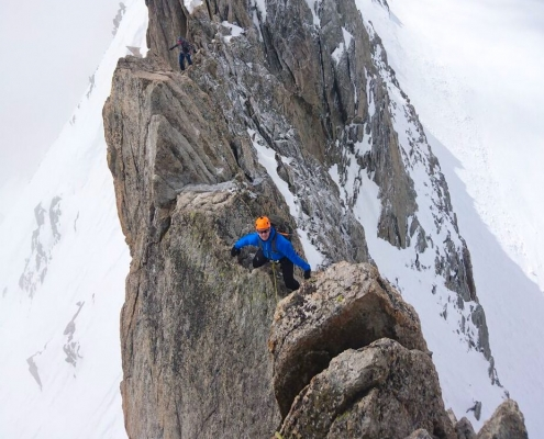Aiguille d'Entreves, Mountaineering course, Italian Alps, chamonix climbing, Chamonix, Chamonix mountain guides, Swiss mountaineering
