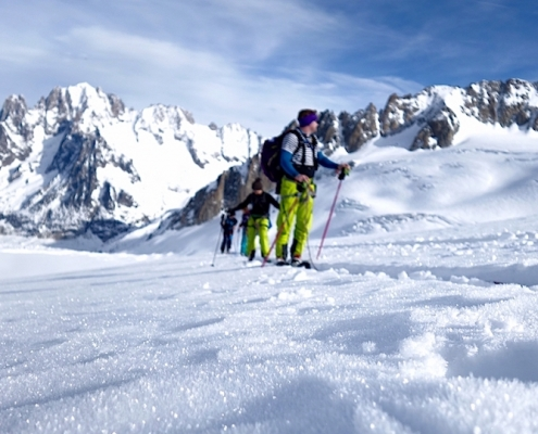 Ski Touring, Off piste, Mountaineering course, Alpine Energy Guiding, mountaineering & ski adventures, Andrew Lanham Mountain Guide, Chamonix, Aosta Valley, Swiss